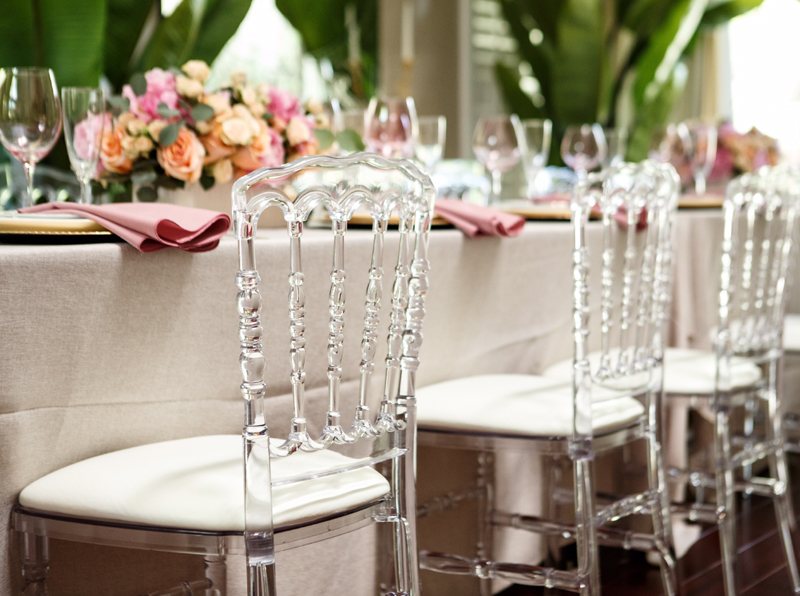 transparent Nepoleon chair wedding