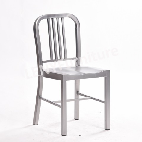 European Design Emeco Style Metal Navy Chair,there Are Normal Size Navy  Dining Chair And Navy High Bar Stool,4 Dimensions For Choice,wooden Seat As  ...