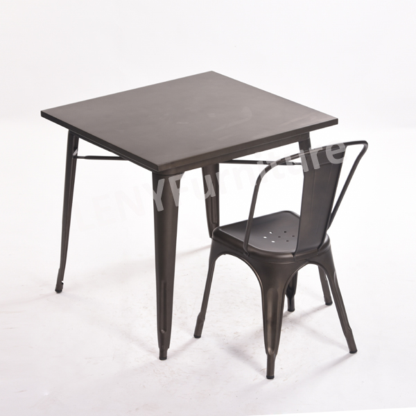 The Product Details For This Tolix Table Are As Below: Item Number: LNMT01  Material: Metal Sheet With Power Coated Or Galvanized. TOP: Metal Or Wood  Top